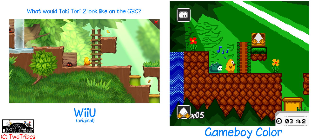 What would Toki Tori 2 look like on the GBC? by MarkProductions