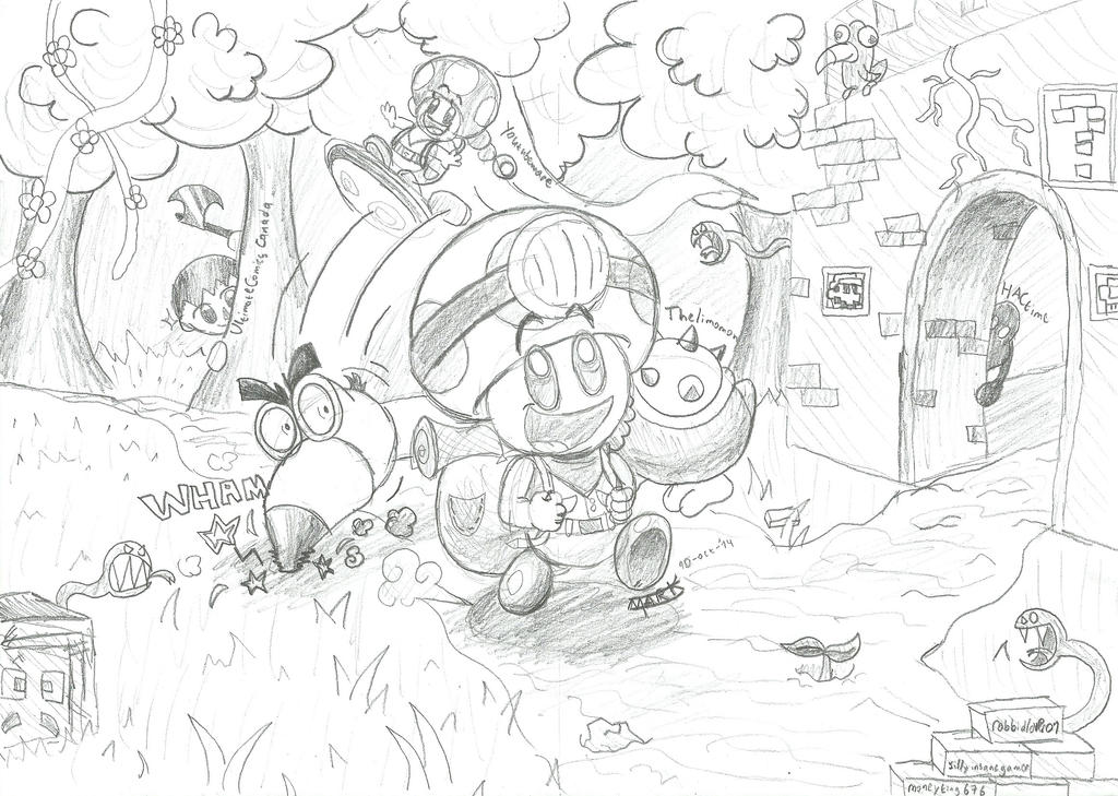 captain toad coloring pages - photo#6