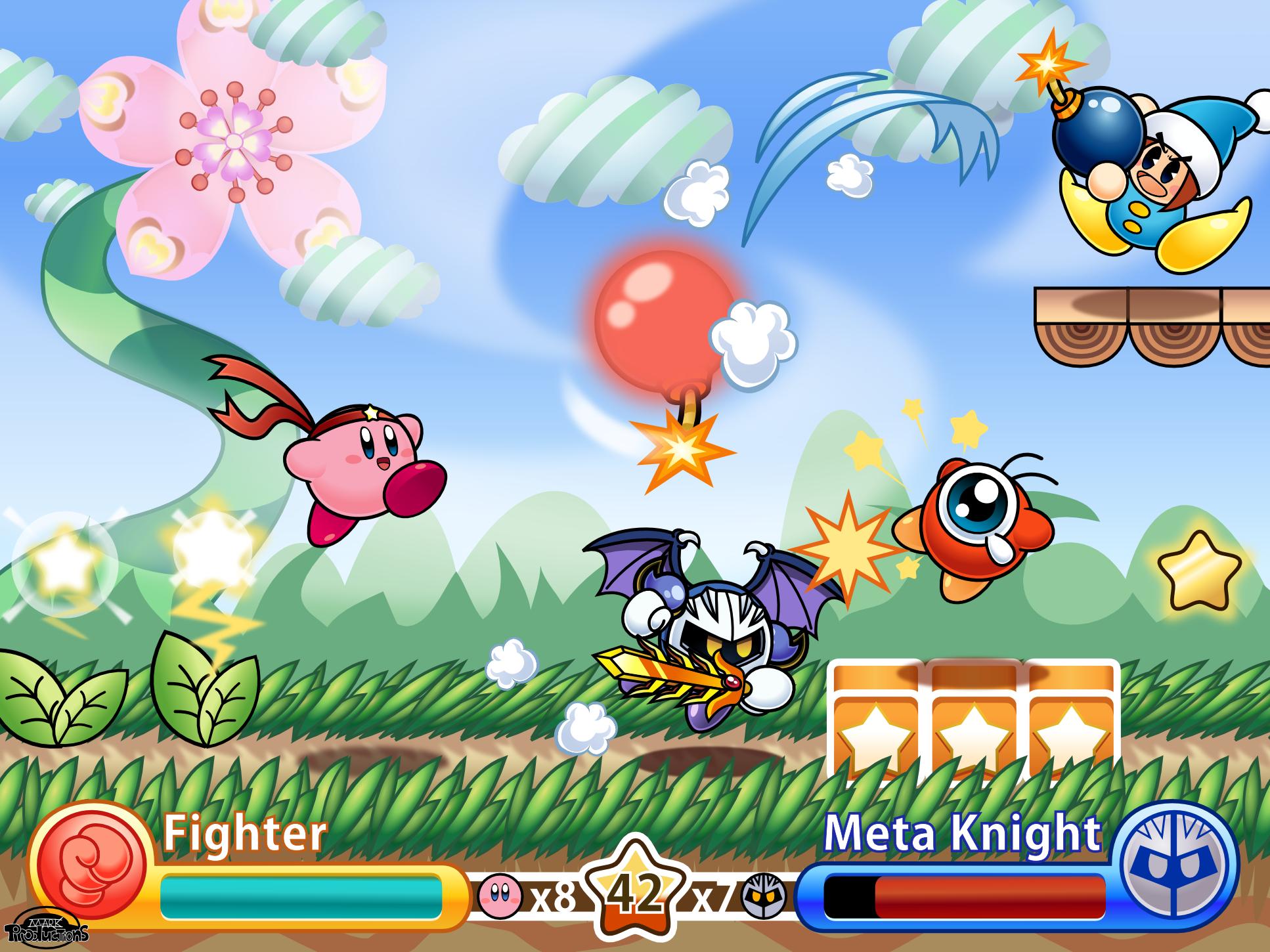 Kirby Hyper Nova - HD screenshot (fanmade game) by MarkProductions