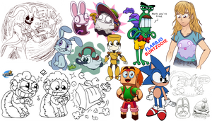 Sketches and doodles! #16 by MarkProductions