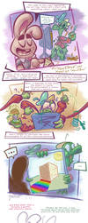 Shady Shading Tutorial - Rabbit and Dino [COMIC] by MarkProductions