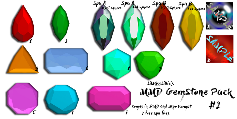 :MMD GemStone Pack#2: Download by LilMissLillie