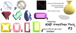 :MMD GemStone Pack#3: Download by LilMissLillie
