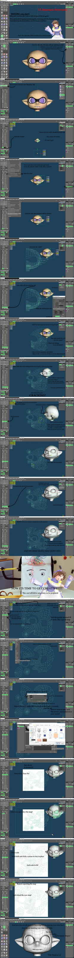   Meta+MMD  UV mapping in Metasequoia by LilMissLillie