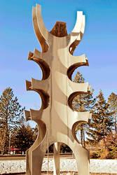 Sculpture Walk- (12 of 20) Aluminum Fountain
