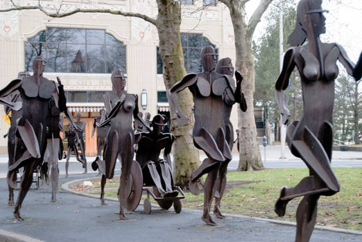 Sculpture Walk- (20 of 20)  The Joy of Running Tog