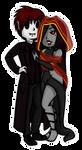 Comm: Kadeox and Azmera Chibi by HaileyWailey