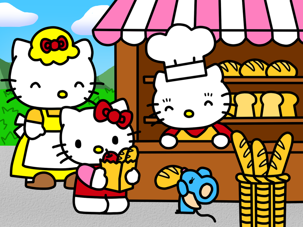 hello kitty in buns shop coloring book by kittykun123 on deviantart