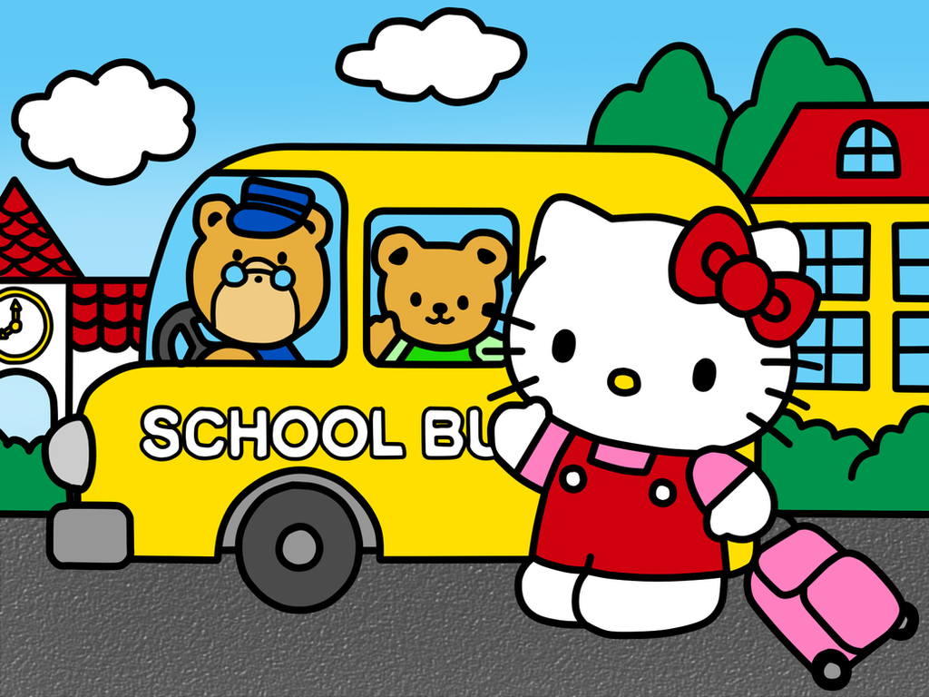 hello kitty go to school coloring book by kittykun123 on