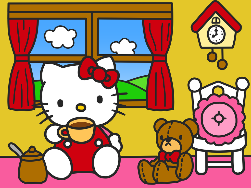 Great Wallpaper Hello Kitty Red - hello_kitty_wallpaper__kitty_drink_coffee__by_kittykun123-dahemrt  HD_119225.png