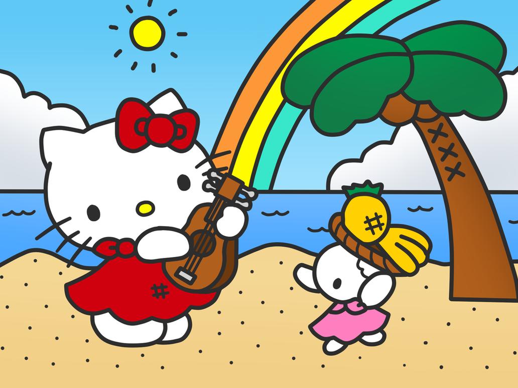 hello kitty in beach by kittykun123 on deviantart