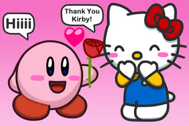 Kirby to Rose for Hello Kitty by Kittykun123