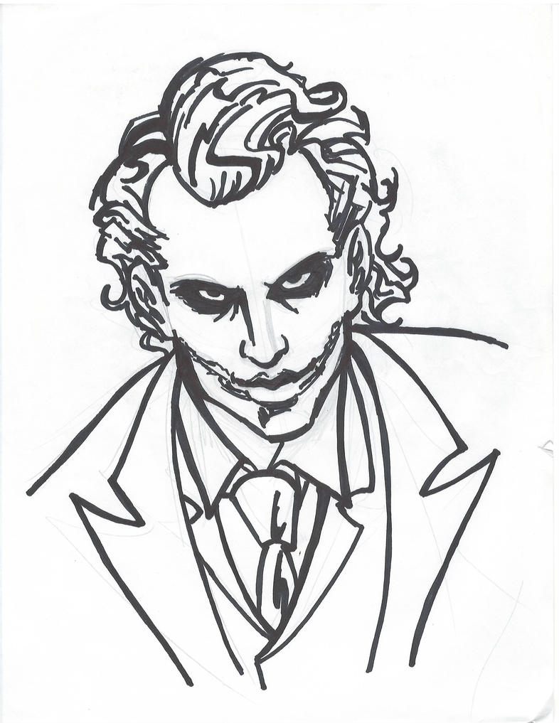 Easy Drawing Joker Why So Serious Sketch Coloring Page  Easy Drawing Jo...