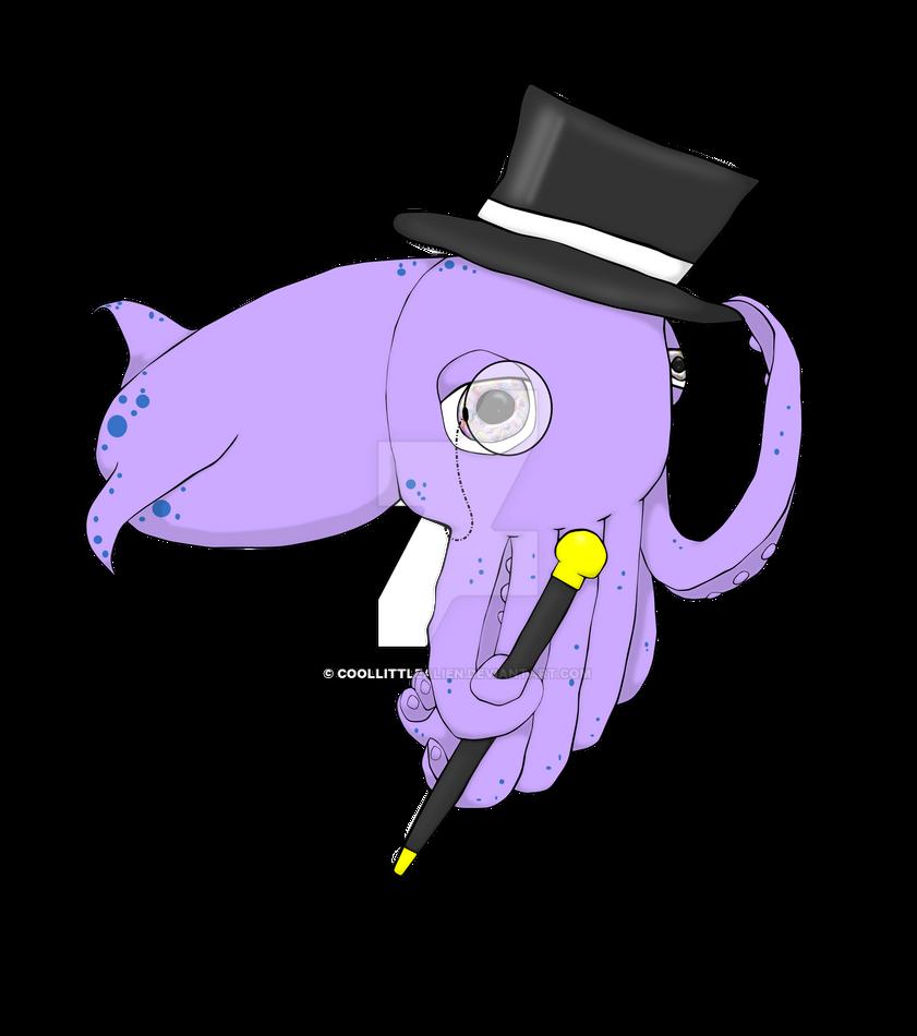 DapperSquid by coollittlealien