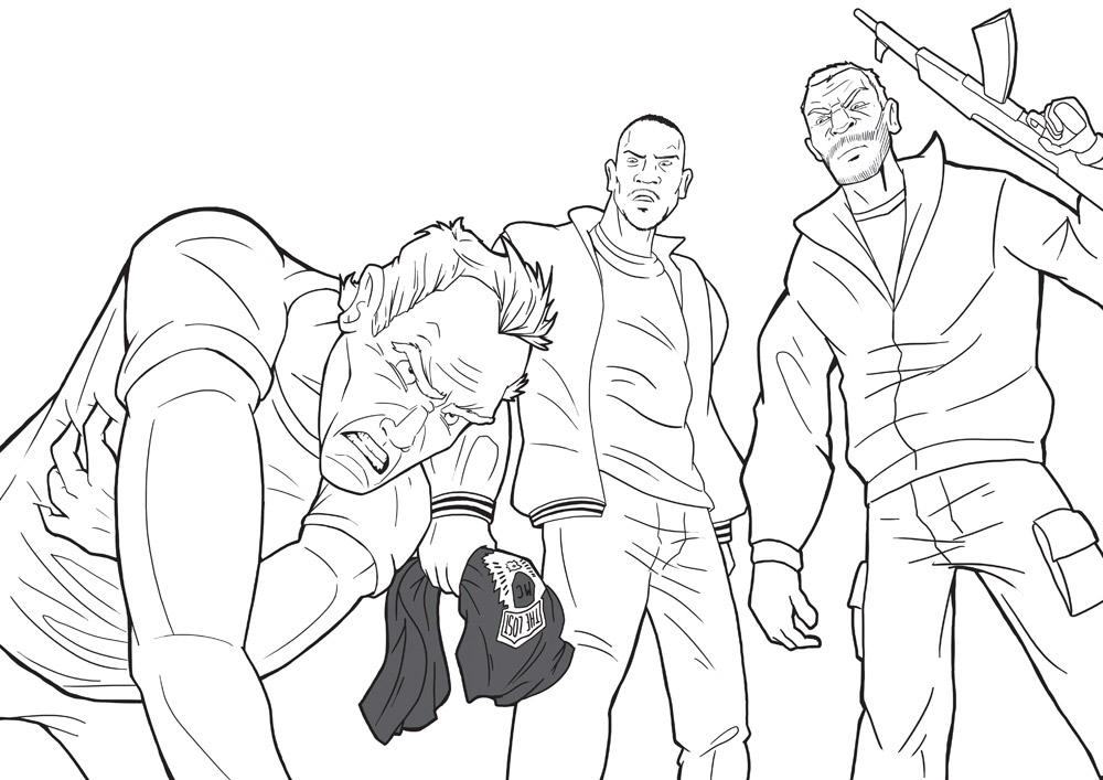 Revenge Of The Gta4 Sketch By Krbllov On Deviantart