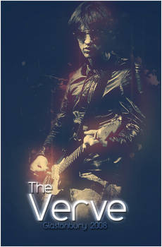 The Verve Glastonbury poster