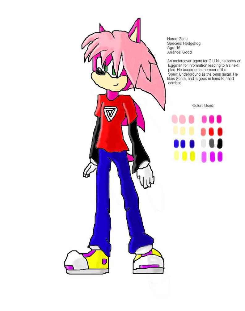 Zane the Hedgehog: Reference by manicgirl155