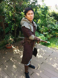 Dark Souls Wanderer Cosplay - Drawing the sword by Chroystain