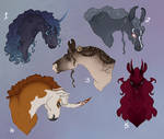horse bust adoptables - [sold]