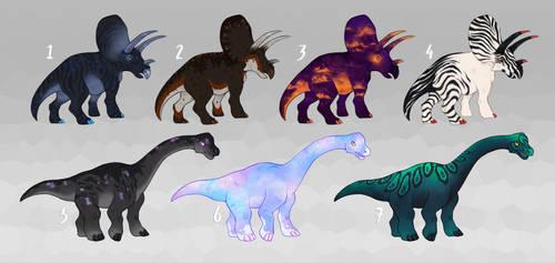 dinosaur adoptables - [1 / 7 open]