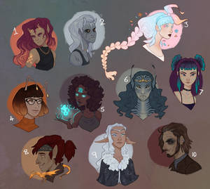 human bust adopts - [sold]