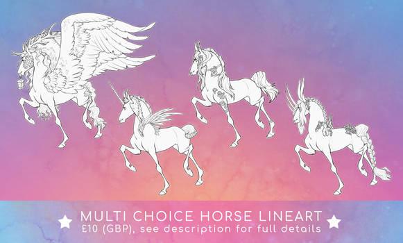 P2U multi-choice horse lineart