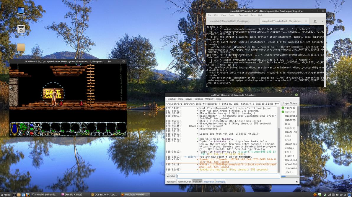 Cinnamon 3.4.6 - Arch Linux - Kernel 4.13.3-1 by darkmuaddib