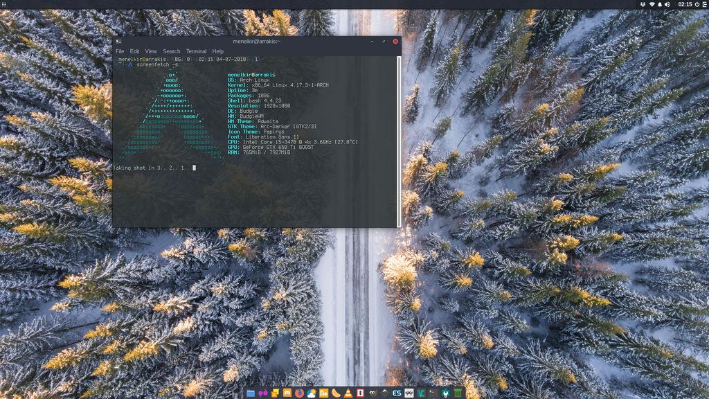 Desktop - Arch Linux by darkmuaddib on DeviantArt