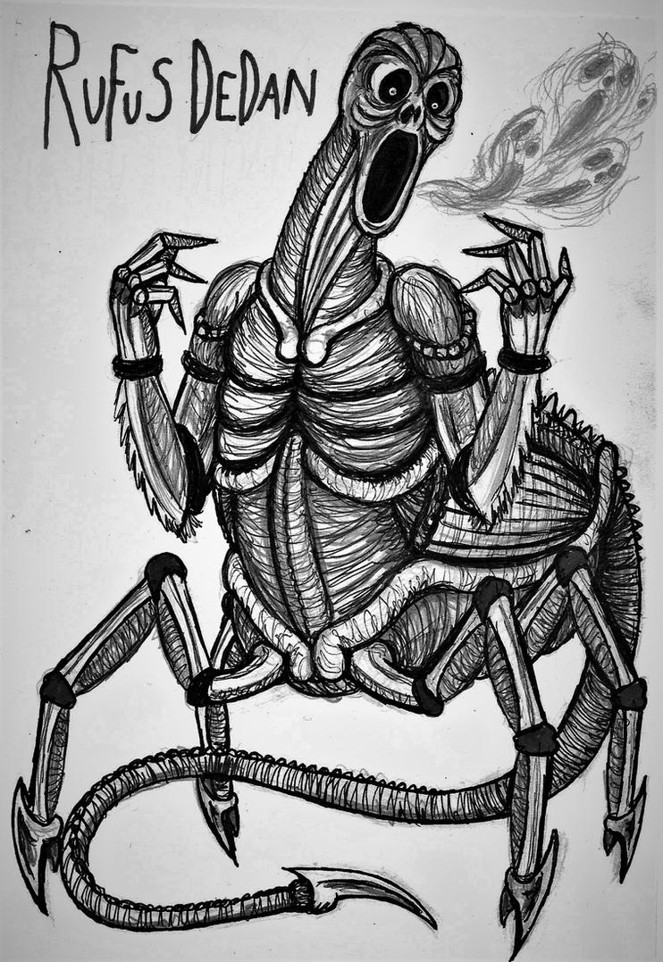 Creepypasta Gods #9: Rufus Edominus Dedan by Tsnophaljakarax