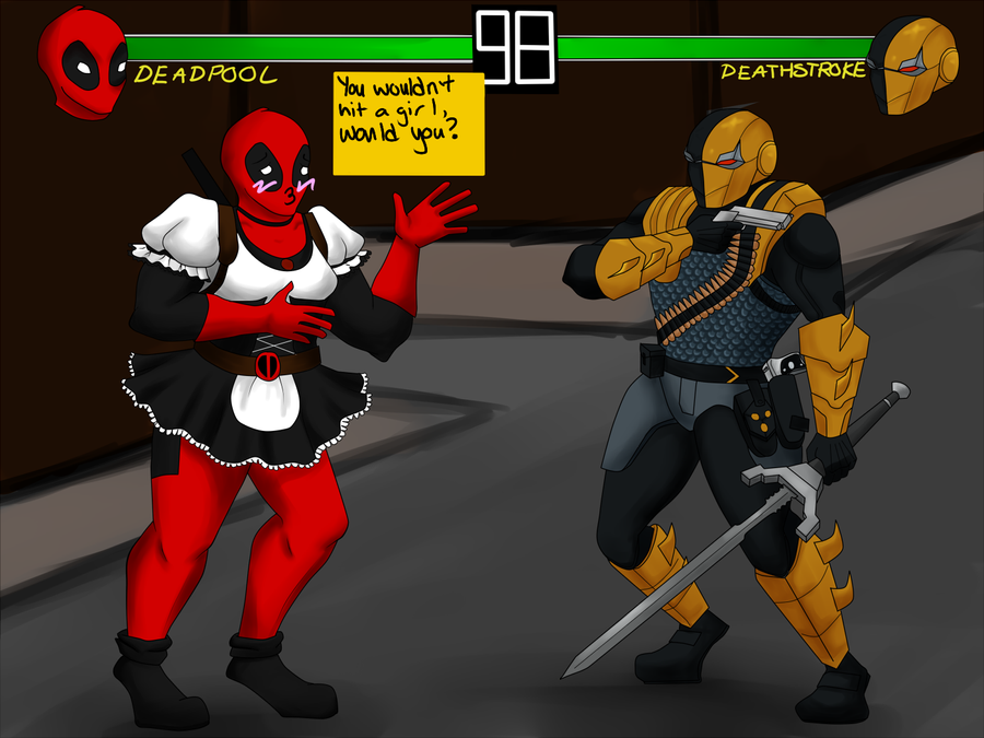 Deadpool Versus Deathstroke By Batsh CrazysPIGGS