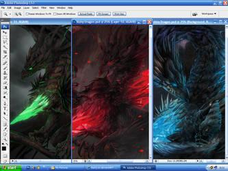 Dragons in progress by BanQ