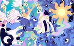 Princess explosion wallpaper with Cutie mark