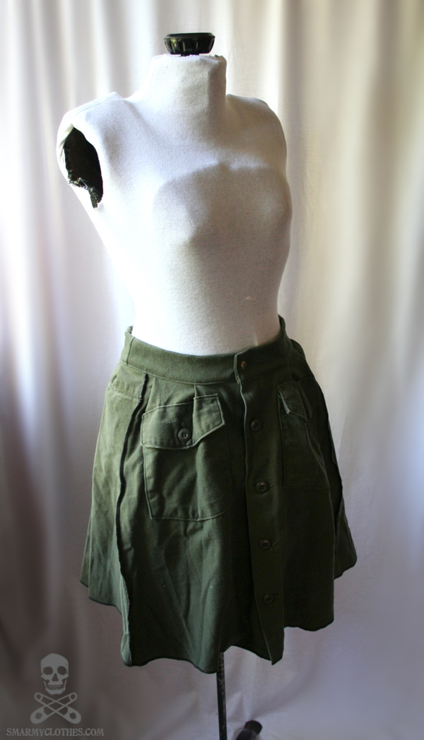 army fatigues upcycled skirt 5 by smarmy clothes on deviantart