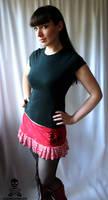 Skull Zebra Mini Skirt by smarmy-clothes