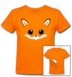 Fuzzy kawaii fox tee shirt by smarmy-clothes