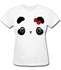 Fuzzy kawaii panda bear tee shirt by smarmy-clothes