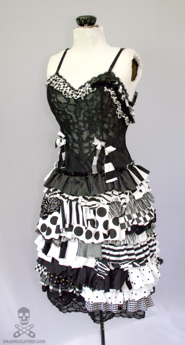Psycho Sideshow ragdoll gothic zombie circus dress by smarmy-clothes