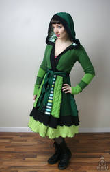 Absinthe The Green Fairy fairytale patchwork sweat