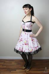 floral Yvonne retro rockabilly swing dress