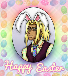 Hotsuma wear Easter bunny by kaitlynrager