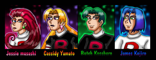 Colorful team rocket groups by kaitlynrager