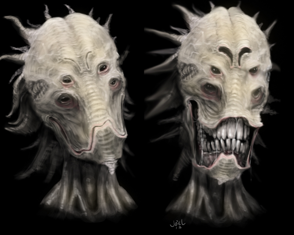 Alien Head by SerranoArt