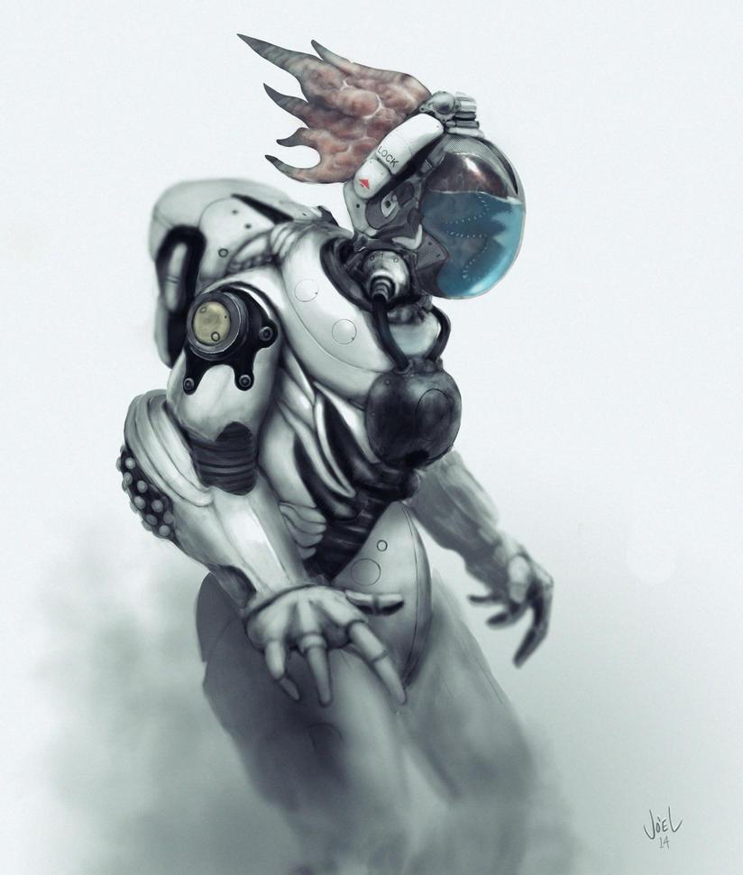 Liquid breathing Alien by SerranoArt