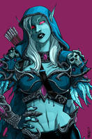 Glamour of Sylvanas: Look Closer... by JNcomix