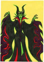 Maleficent - Birthday Card by JNcomix
