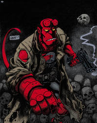 Hellboy Color by JNcomix