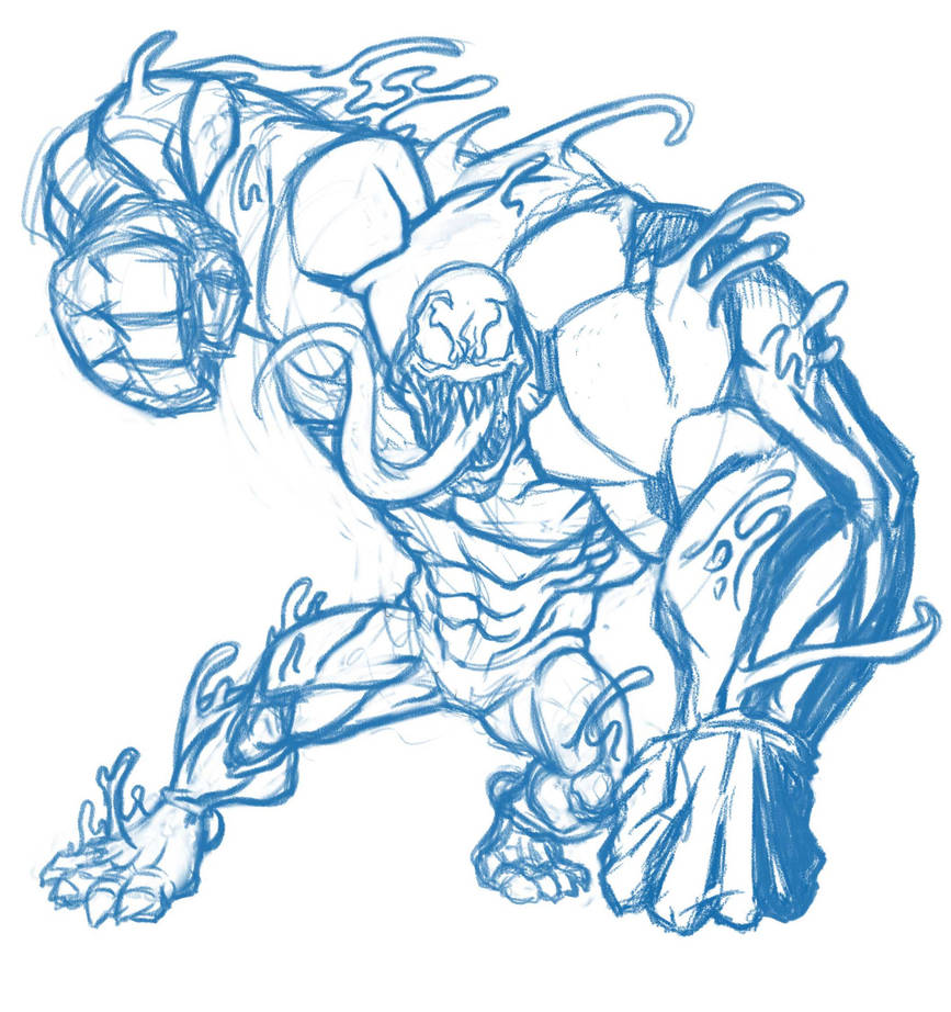 Venom Sketch by JNcomix