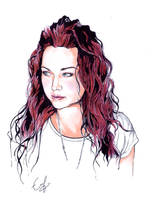 Amy Lee Drawing by EvEverson