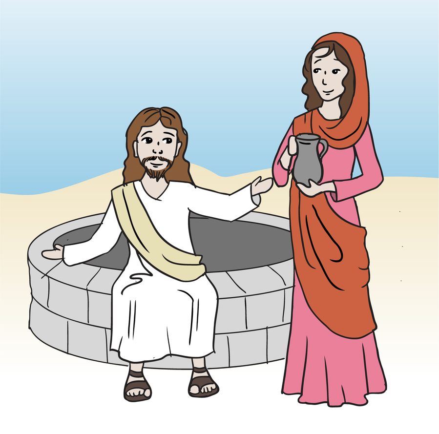 clipart jesus and the woman at the well - photo #2