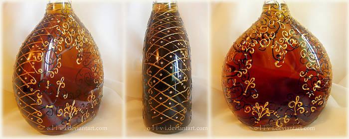 Bottle with cognac